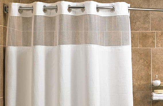 Mini Waffle Shower Curtain