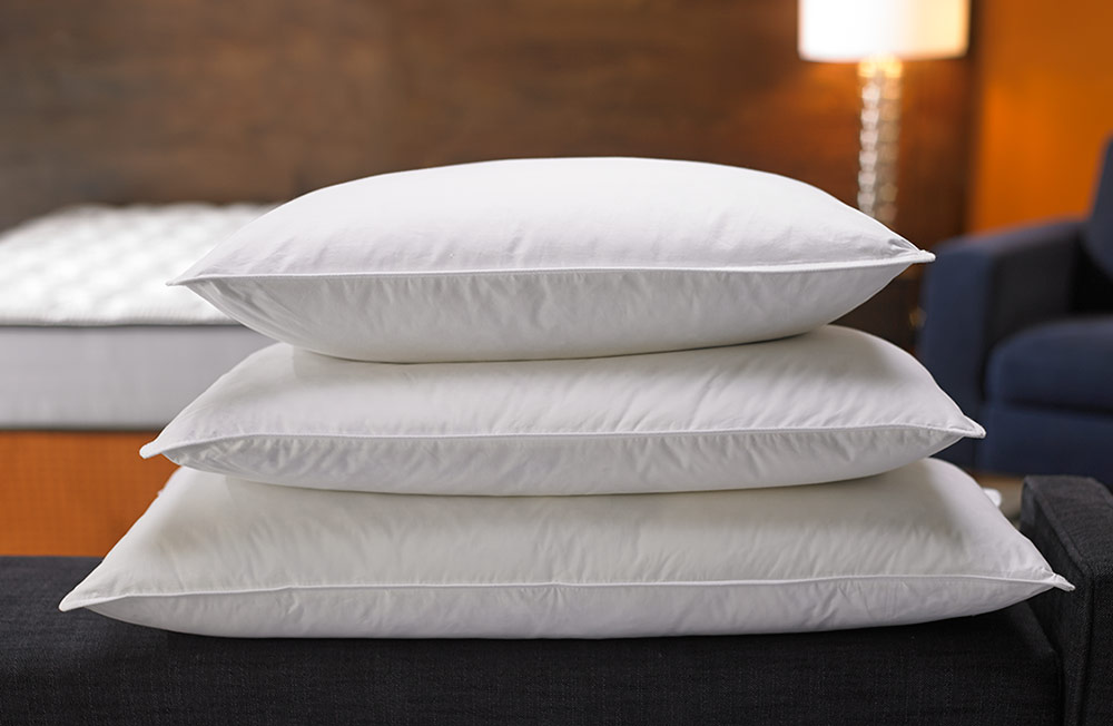 luxury duck feather down high quality pillows soft comfortable cotton white ebay. Black Bedroom Furniture Sets. Home Design Ideas
