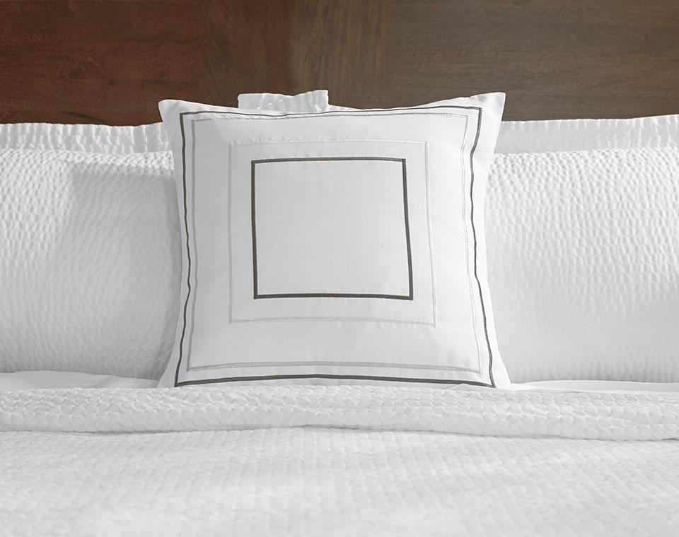 Grey Amp Taupe Frames Throw Pillow Shop Fairfield Pillows