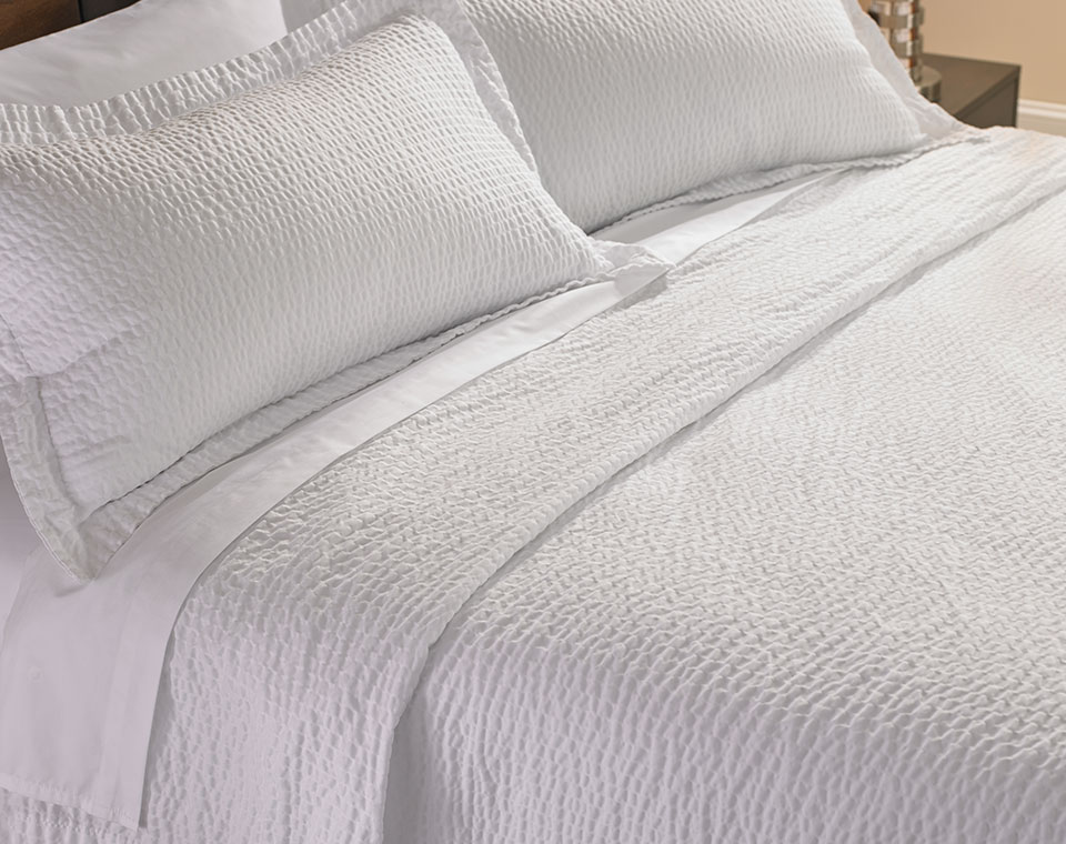 Ripple Coverlet Amp Shams Set Shop Decorative Linens