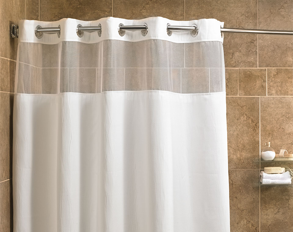 Shower Curtains.Fairfield Hotel Store Mini Waffle Shower Curtain