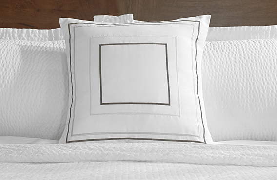 Grey Amp Taupe Frames Throw Pillow Fairfield Hotel Store