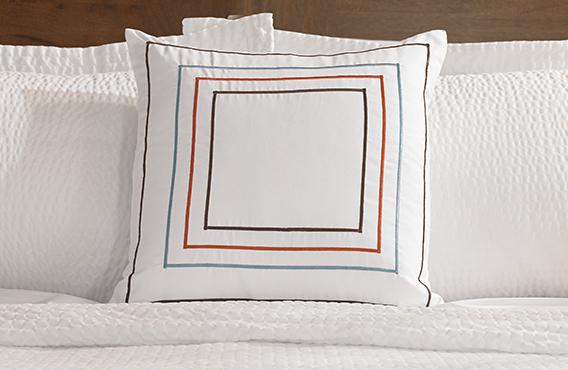 Orange Amp Blue Frames Throw Pillow Fairfield Hotel Store