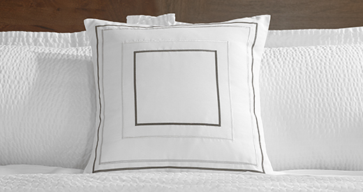 Grey & Taupe Frames Throw Pillow