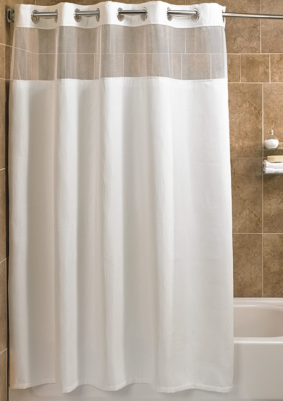 beige and white shower curtain. Fairfield Store Mini Waffle Shower Curtain  Hotel